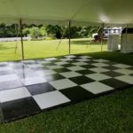 Outdoor Black and White Dance Floor