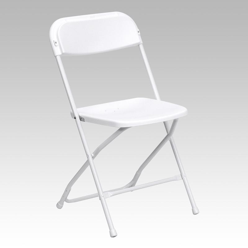 White/White Reception Chair